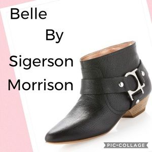 Belle by Sigerson Morrison black leather Booties